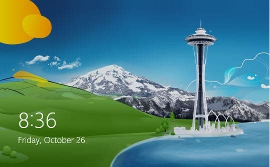 change lock screen Windows 8