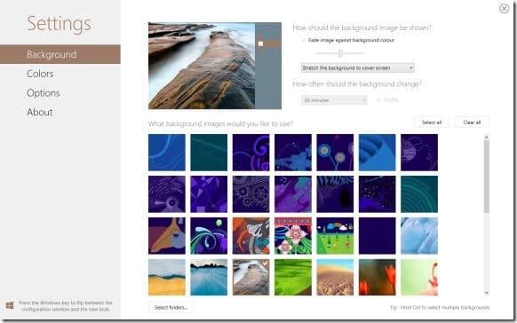 Decor 8 Windows 8 Start Screen Background Changer