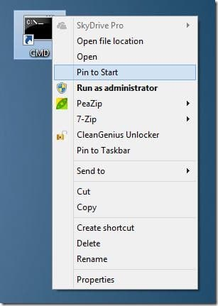 open Command Prompt as administrator in Windows  How To Pin Command Prompt With Admin Rights To Start Screen