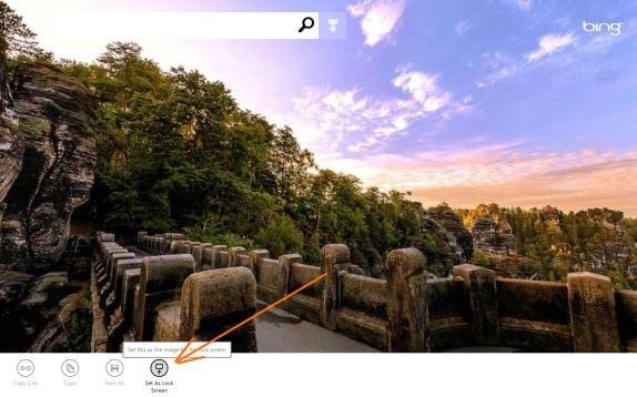 Set Bing As Lock Screen Background