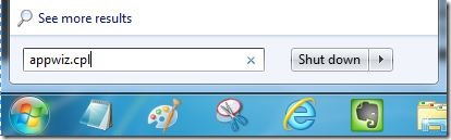 Uninstall Internet Explorer 10 Step1