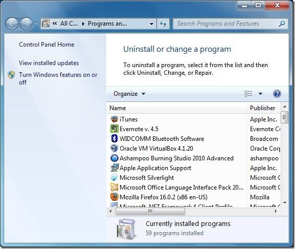 Uninstall Internet Explorer 10 Step2