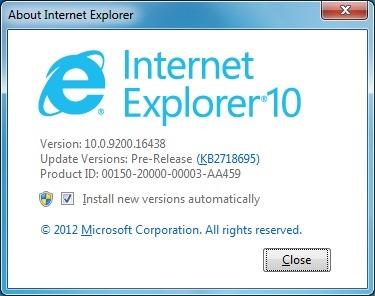 Uninstall Internet Explorer 10 Step4