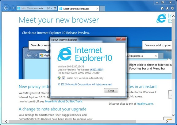 Upgrade to IE10 Step4