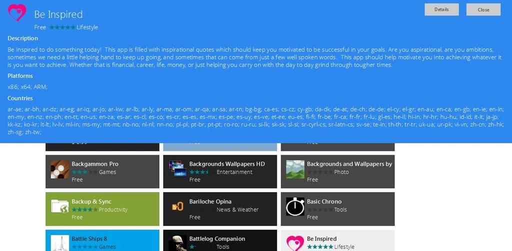 Browse Windows 8 App Store Online