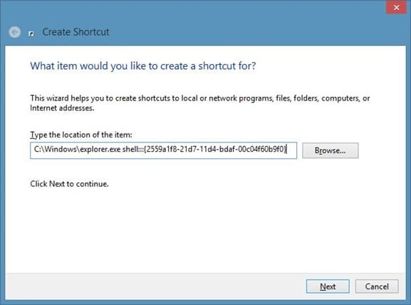 Create All Programs Shortcut On Windows 8 Desktop Step2