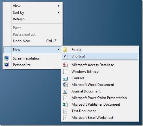Create All Programs Shortcut On Windows 8 Desktop