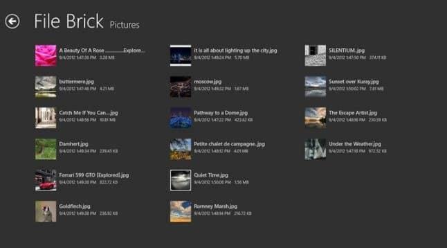 File Brick: Best Alternative To Windows 8 File Explorer