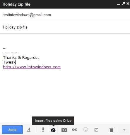 Send Large Files Via Gmail Step1