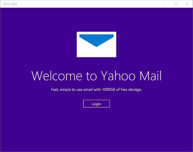 Yahoo Mail app for Windows 10 8