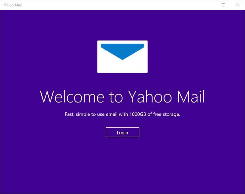 Yahoo Mail app for Windows 10 8