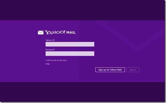 Yahoo! Mail for Windows 8