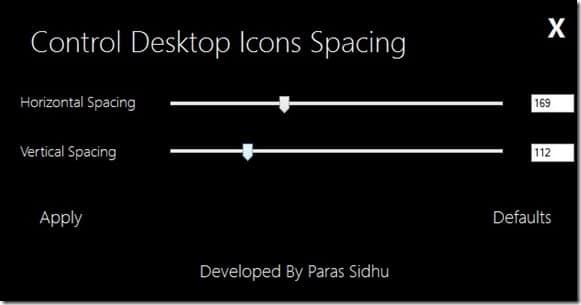 Change Desktop Icons Spacing