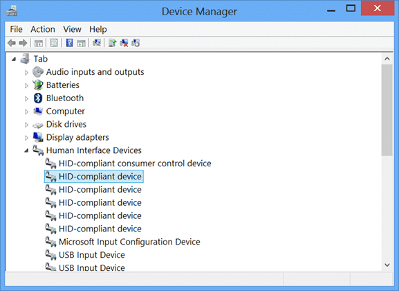 Disable Touch Input Windows 8 Step1