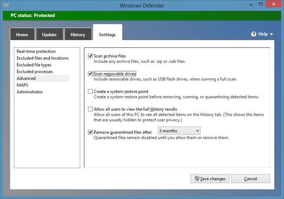 Scan Files Using Windows Defender In Windows 8