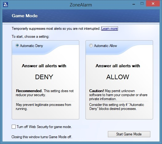 ZoneAlarm Firewall for Windows 8 Picture2