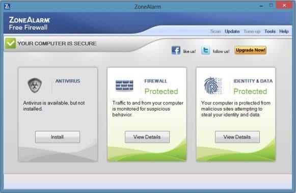 ZoneAlarm Windows 8
