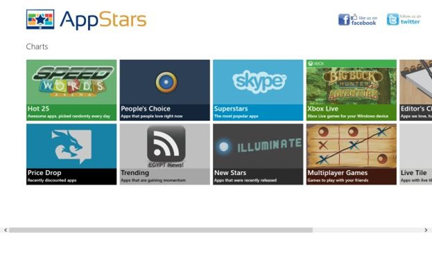 App Stars App Finder for Windows 8