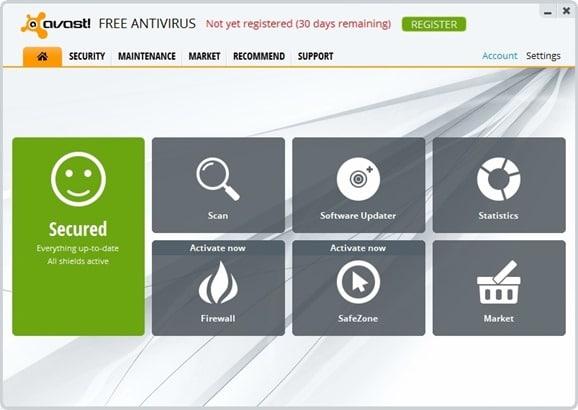 Avast Antivirus Free Download for Windows 8