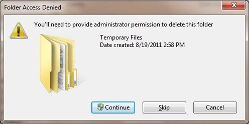 Delete Kaspersky Temporary Files step9