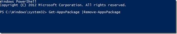 Uninstall Native Windows 8 apps