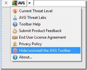 AVG Toolbar Windows