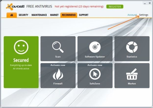 Disable Avast Sound and Voice Messages Picture66