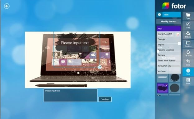 Fotor app for Windows 8 Picture2