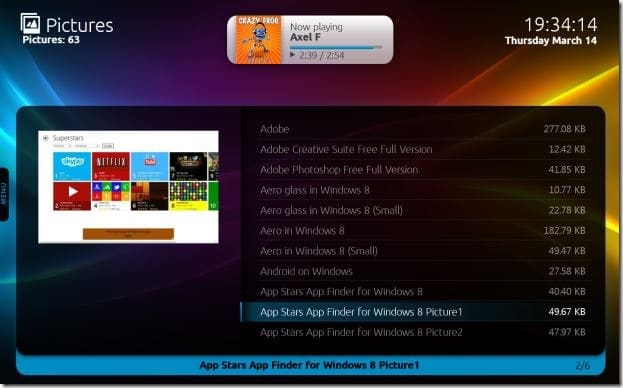 Free Media Center for Windows 8 Picture2