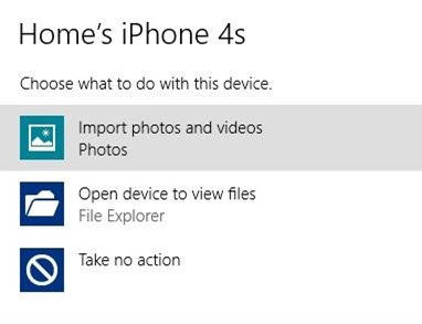 Import iPhone Photos to Windows Step2
