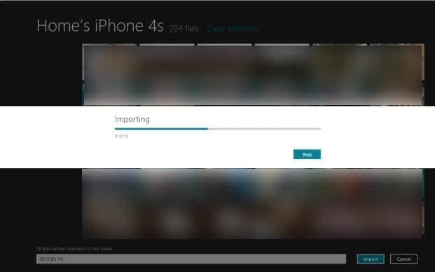 how to get photos from iphone to pc windows 8