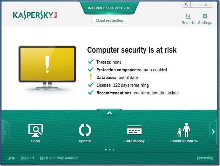 Kaspersky Databases Are Out of Date