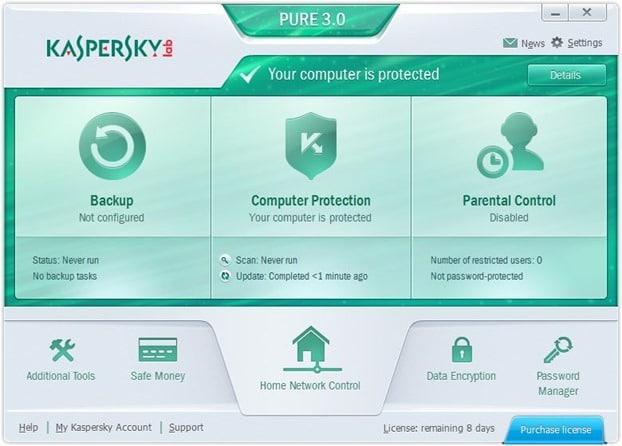 Kaspersky PURE 3.0 for Windows