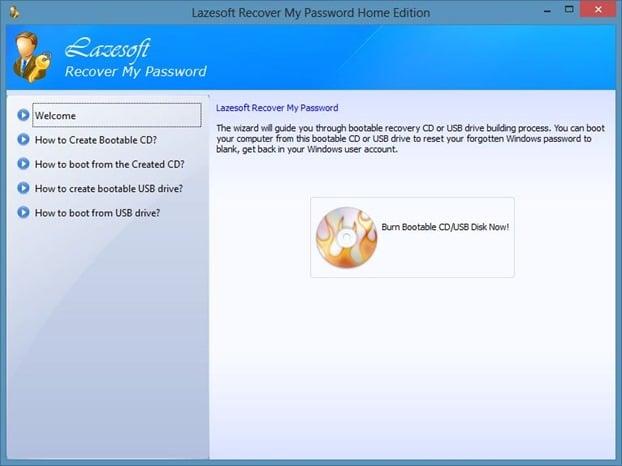 Reset Windows Password Step1