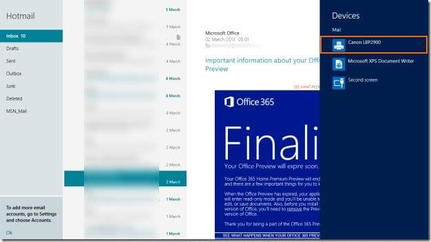 Take Print In Windows 8 Mail App Picture1