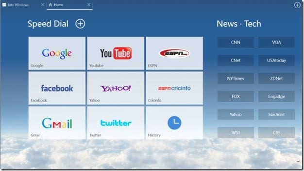 Web Browser for Windows 8 Picture1