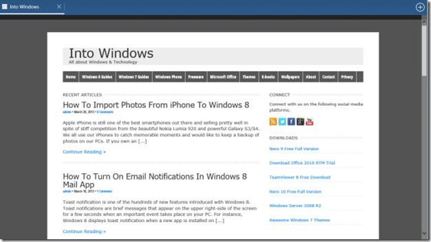 Web Browser for Windows 8