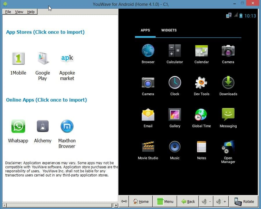 YouWave: Run Android On Windows [Paid]