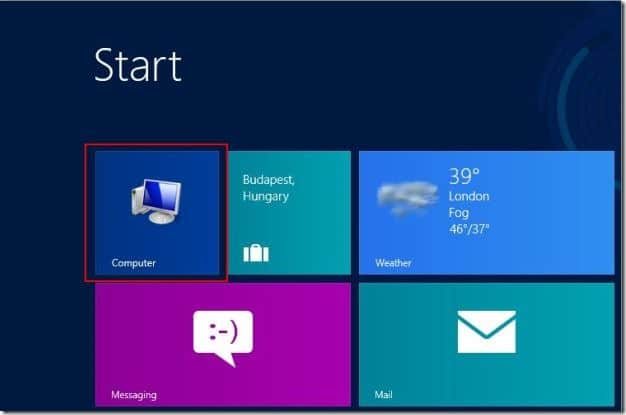 Add Computer Icon To Start Screen In Windows 8 Step