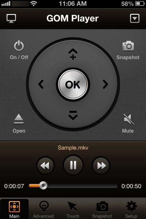 GOM Remote, Control GOM Player From iPhone & Android