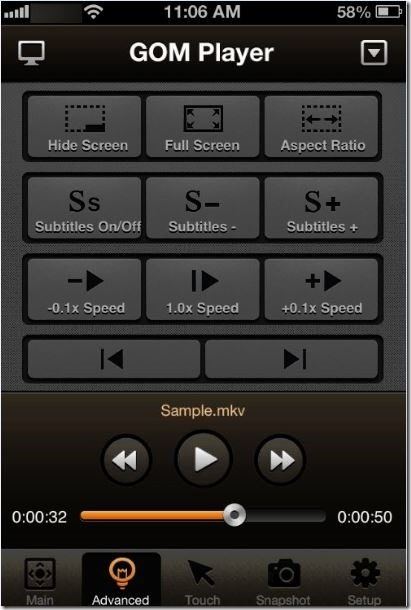 Control GOM Media Player from Phone Picture2