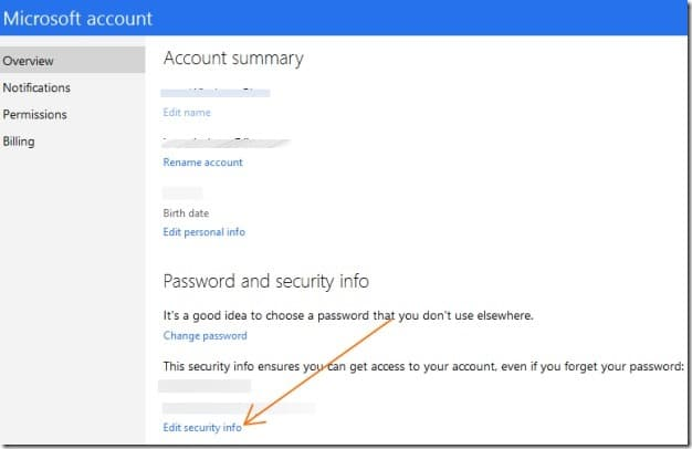 Enable two step verification for Microsoft account Picture2
