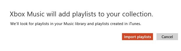 Import iTunes playlist to Xbox Music app in Windows 8 Step4