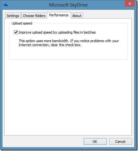 Improve SkyDrive Upload Speed Step1