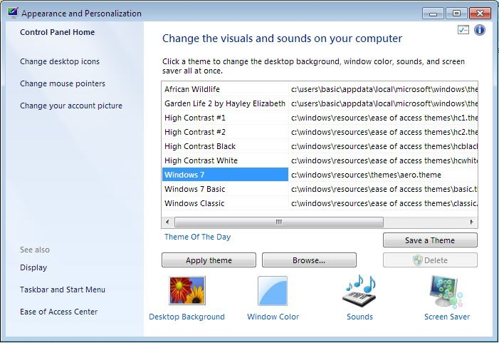 How To Install Themes In Windows 7 Starter And Home Basic