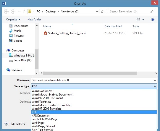 Edit PDF in Office 2013 Picture6