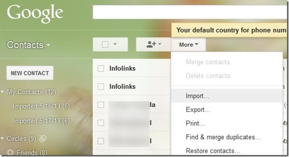 Import Outlook.com Contacts To Gmail Step16