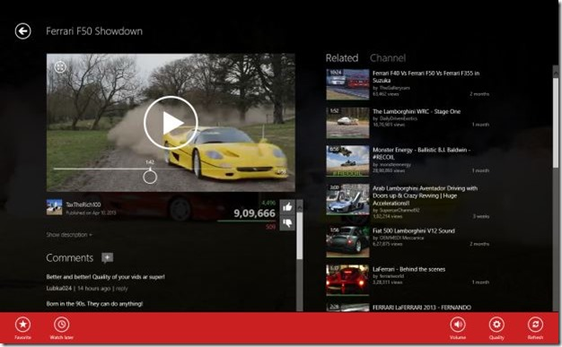 MetroTube app for Windows 8 Picture6