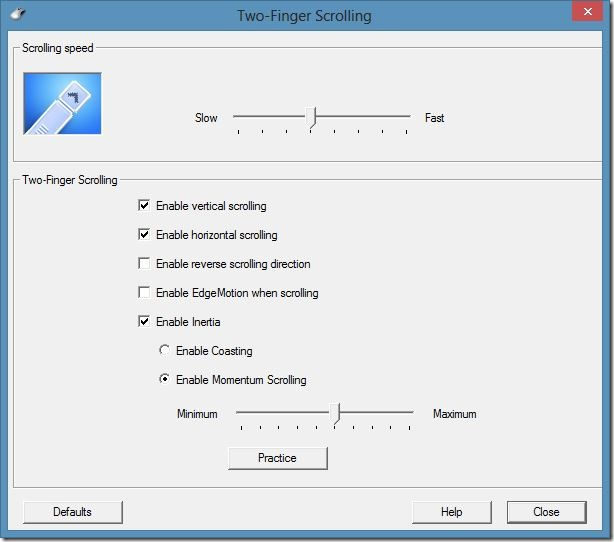 Two Finger Scrolling In Windows 8 Step5