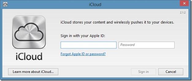 use icloud on Windows step2
